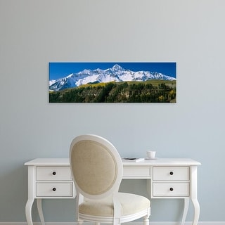Easy Art Prints Panoramic Image 'Mountains, Wilson Peak in autum, San Juan Mountains, Telluride, Colorado' Canvas Art