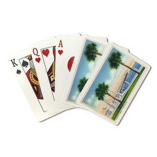 St. Augustine, FL Bridge of Lions Vintage Halftone (Poker Playing Cards Deck)