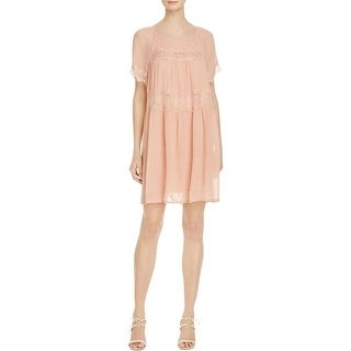 French Connection Womens Casual Dress Tent Sheer