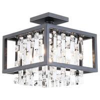 """DVI Lighting DVP6311 10.75"""" Height 4 Light Semi-Flush Ceiling Fixture"""