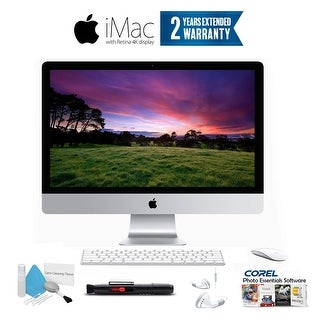 "Apple iMac MK442LL/A 21.5"" LED-Backlit IPS Display (2.8 GHz Intel Core i5, 8GB, 1TB HD,) - With 2 Year Extended Warranty Bundle"