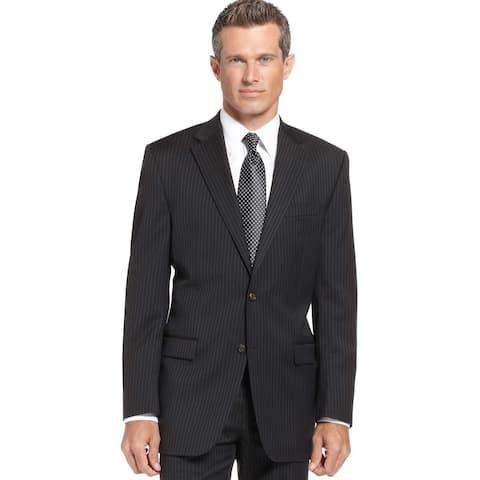 Ralph Lauren Mens Regular Fit Suit-Separate Sportcoat 44 Regular 44R Black