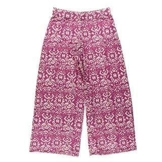 Lauren Ralph Lauren Womens Petites Stretch Printed Wide Leg Pants - XS