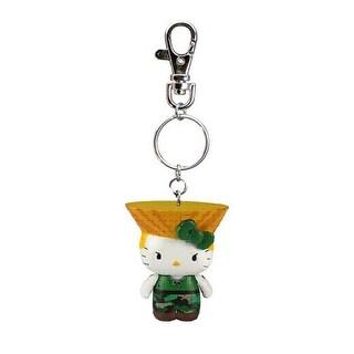 Street Fighter X Sanrio Mobile Key Chain Guile - Multi