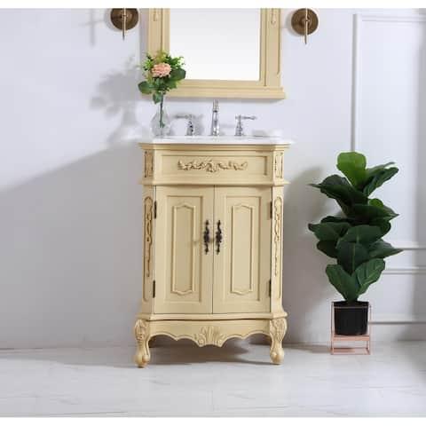 Dallas 24 in. Single Bathroom Vanity Set with Marble Top
