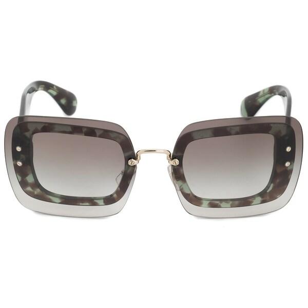 de365ea2109c Shop Miu Miu Oversized Square Sunglasses SMU02RS UAG0A7 67 - Free ...