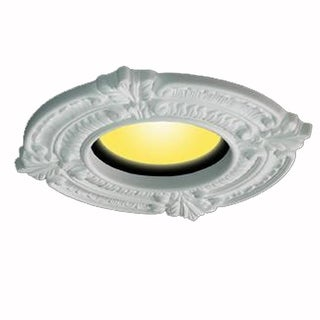 Recessed Urethane Ceiling Medallion Trim White 6 inches ID x 10 inches OD