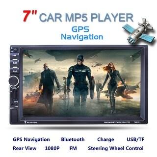 Double 2 DIN Car 7 MP3 MP5 Player Stereo FM Radio GPS Sat Nav Bluetooth USB AUX