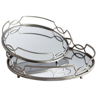 """Cyan Design 5812 15"""" x 15"""" Lady Anne Trays - Stainless Steel"""