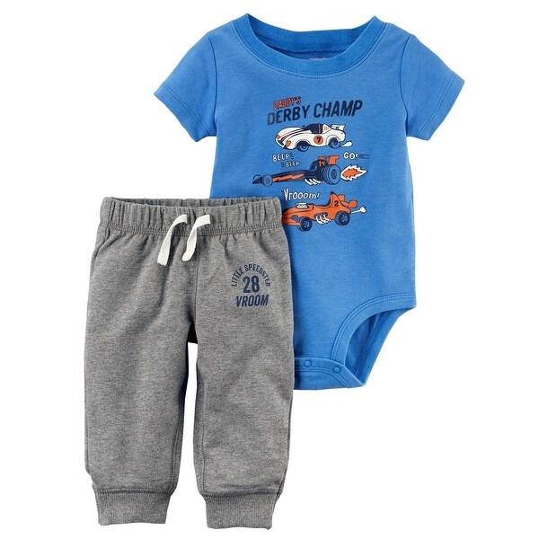 b6b01d46d Shop Carter's Baby Boys' 2-Piece Bodysuit Pant Set,
