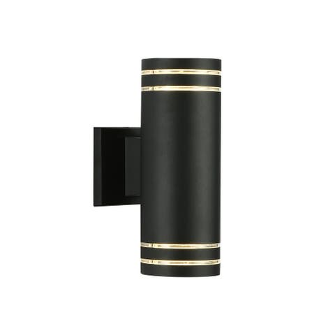 Cedar Hill 11 in. LED-Wall Lights, Waterproof 25W Cylinder Up and Down Wall Sconce for Yard Garage