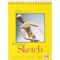 """100 Sheets - Strathmore Sketch Spiral Paper Pad 9""""X12"""""""