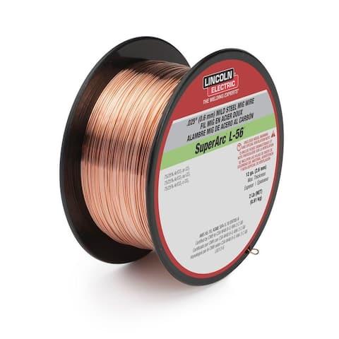 """Lincoln ED030631 SuperArc L-56 Mild Steel Mig Welding Wire, 0.030"""", 2 Lb"""