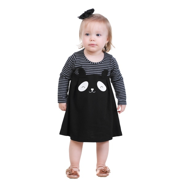 Pulla Bulla Baby Girls' Striped Panda Dress