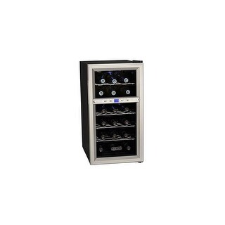 """Koldfront TWR181E 14"""" Wide 18 Bottle Wine Cooler with Dual Thermoelectric Cooling Zones - Stainless Steel - N/A"""