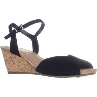 Aerosoles Cupcake Comfort Wedge Sandals, Black