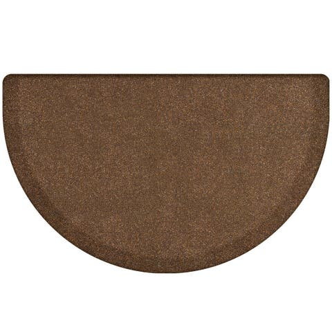 "WellnessMats Studio Semi-Circle Anti-Fatigue Office, Bathroom & Kitchen Mat, Granite Copper, 36"" X 22"""