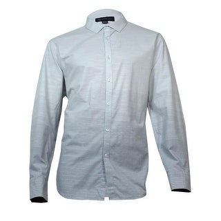 INC International Concepts Shine Stripe Woven Button-front Shirt (White, XXL) - XXL
