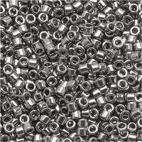 Miyuki Delica Seed Beads 15/0 Metallic Steel DBS021 4 GR