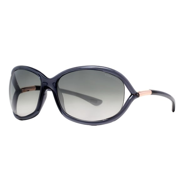 Tom Ford Jennifer TF 8 0B5 Transparent Dark Grey Women's Soft Square Sunglasses - clear gray - 61mm-16mm-120mm
