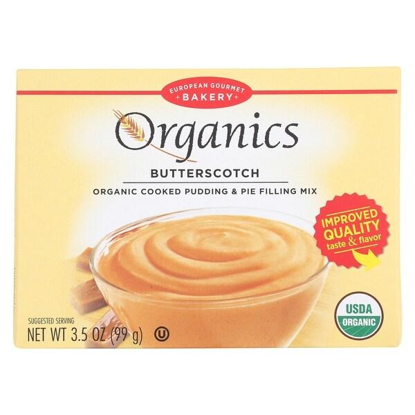 European Gourmet Bakery Organic Butterscotch Pudding Mix - Butterscotch - Case of 12 - 3.5 oz.