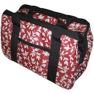 """18""""X10""""X12"""" Red Floral - Janetbasket Eco Bag"""