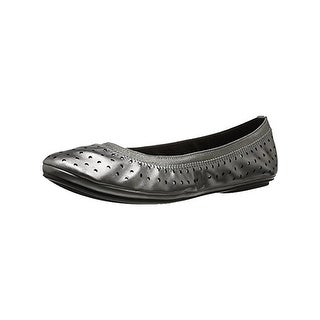Bandolino Womens Elan Ballet Flats Perforated Faux Leather