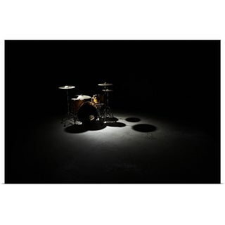 """""""Drum kit, elevated view"""" Poster Print"""