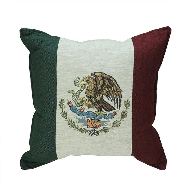 "17"" Flag of Mexico Decorative Tapestry Accent Throw PIllow"