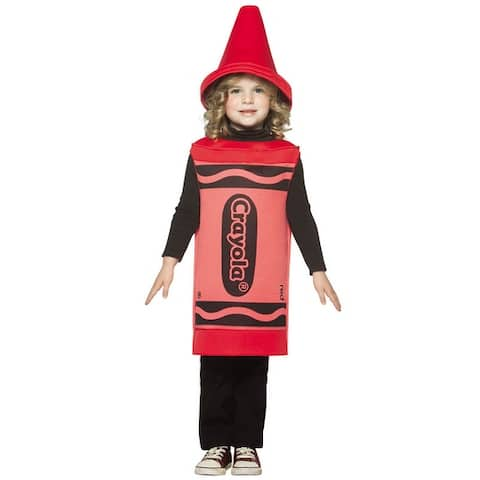 Rasta Imposta Crayola Red Toddler Costume (3T-4T) - Solid