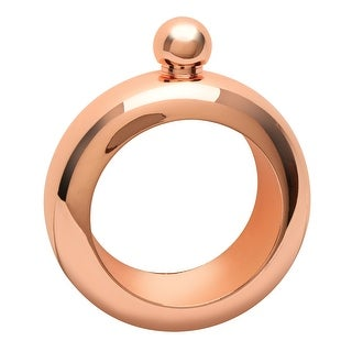 What on Earth Stainless Steel Bracelet Flask - Bangle Style Rose Gold Finish 3 oz. Capacity
