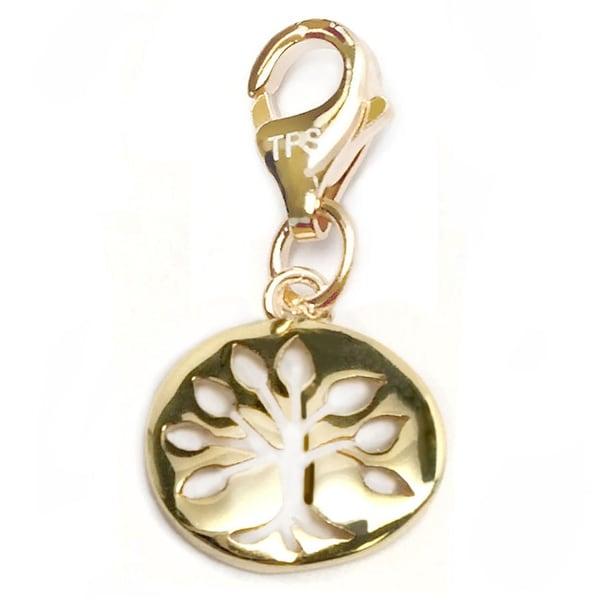 "Julieta Jewelry Tree of life Gold Charm 16"" Necklace"
