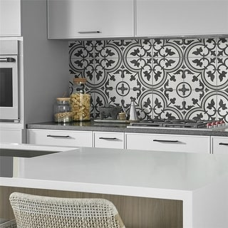 Link to SomerTile 9.75 x 9.75-in Art Grey Porcelain Tile Similar Items in Tile