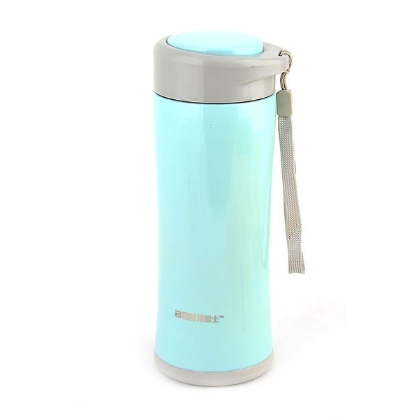 Outdoor Stainless Steel Water Insulated Vacuum Portable Cup Pot Cyan Gray 420ml