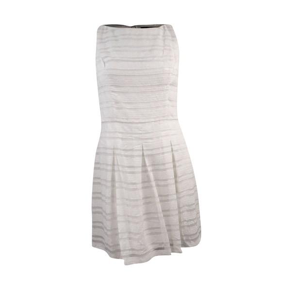 Shop Lauren Ralph Lauren Women S Striped Fit Flare Dress