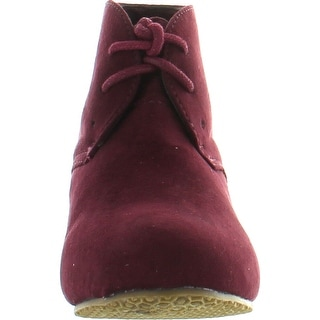 Anna Sally-5K Cute Fashion New Faux Suede Pumps Lace Up Girls High Heels Kids Ankle Boots Youth Size Shoes