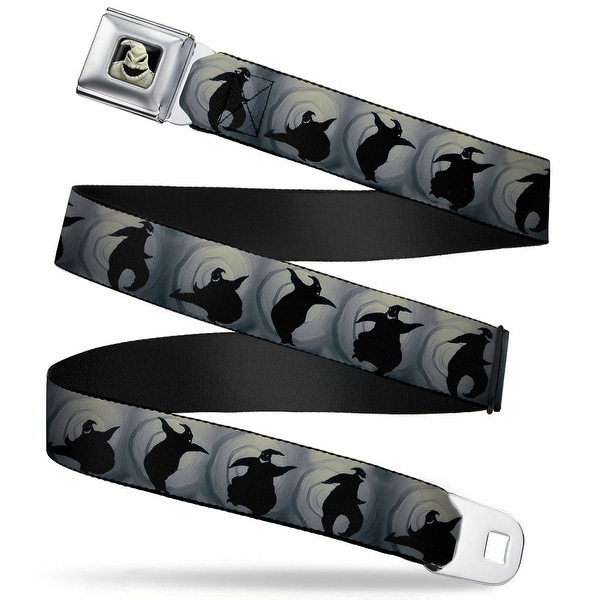 Oogie Boogie Close Up Full Color Oogie Boogie Silhouette Poses Gray Black Seatbelt Belt