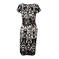 INC International Concepts Women's Scuba-Knit A-Line Dress - blur ikat - l
