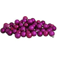 "32ct Pink Magenta Shatterproof 4-Finish Christmas Ball Ornaments 3.25"" (80mm)"