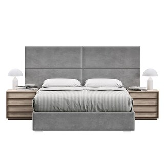 Sleep Sync Marcella Upholstered Adjustable Panel Bed Headboard