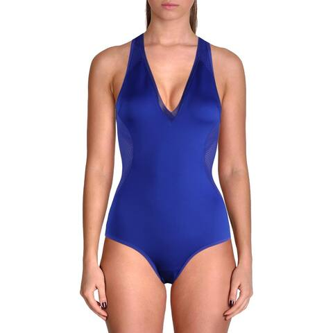 Stella McCartney Womens Neoprene Mesh Inset One-Piece Swimsuit