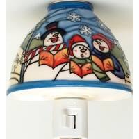 Translucent Porcelain Snowman Night Light