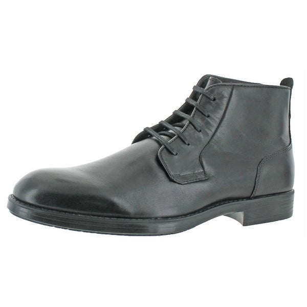 Calvin Klein Men's Harding Smooth Leather Boots Shoes