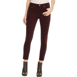 Rag & Bone Womens Capri Jeans Velvet Mid Rise