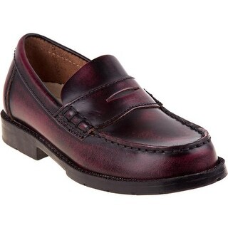 Academie Gear Boys' Josh Light Burgundy Leather