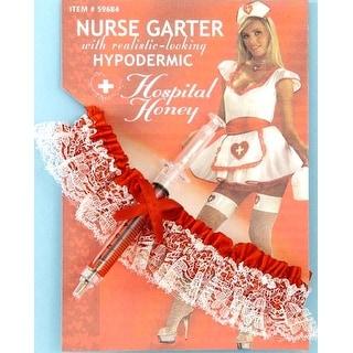 Hospital Honey Nurse Costume Garter With Hypo