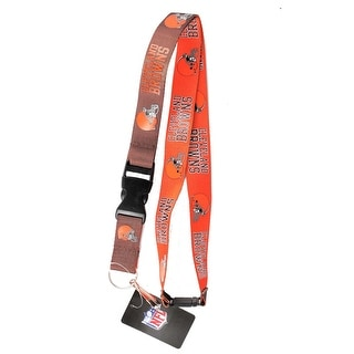 Cleveland Browns NFL Reversible Lanyard Keychain Id Ticket Holder