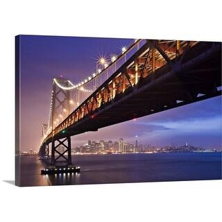 Premium Thick-Wrap Canvas entitled San Francisco Bay bridge.