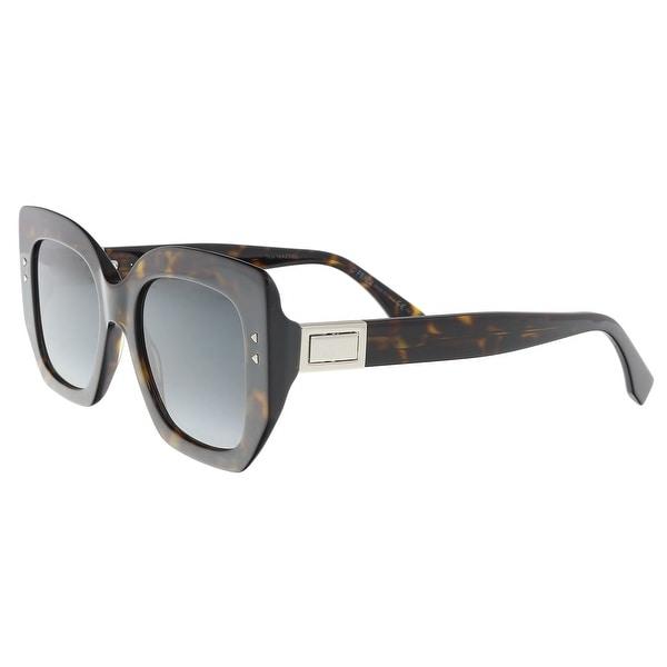 02a23d4960404 Shop Fendi FF0267S 0086 Dark Havana Square Sunglasses - 51-20-140 ...