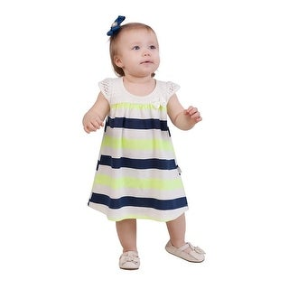 Pulla Bulla Baby Girl Infants Striped Lace Dress